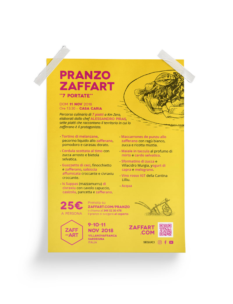 Diseño Menu Pranzo Zaffart 2018