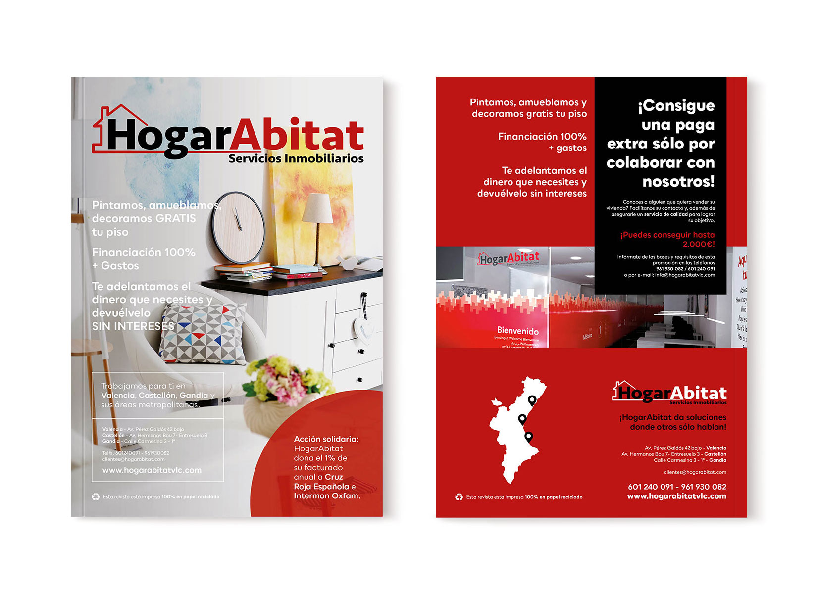 Diseño Editorial Revista HogarAbitat 2018