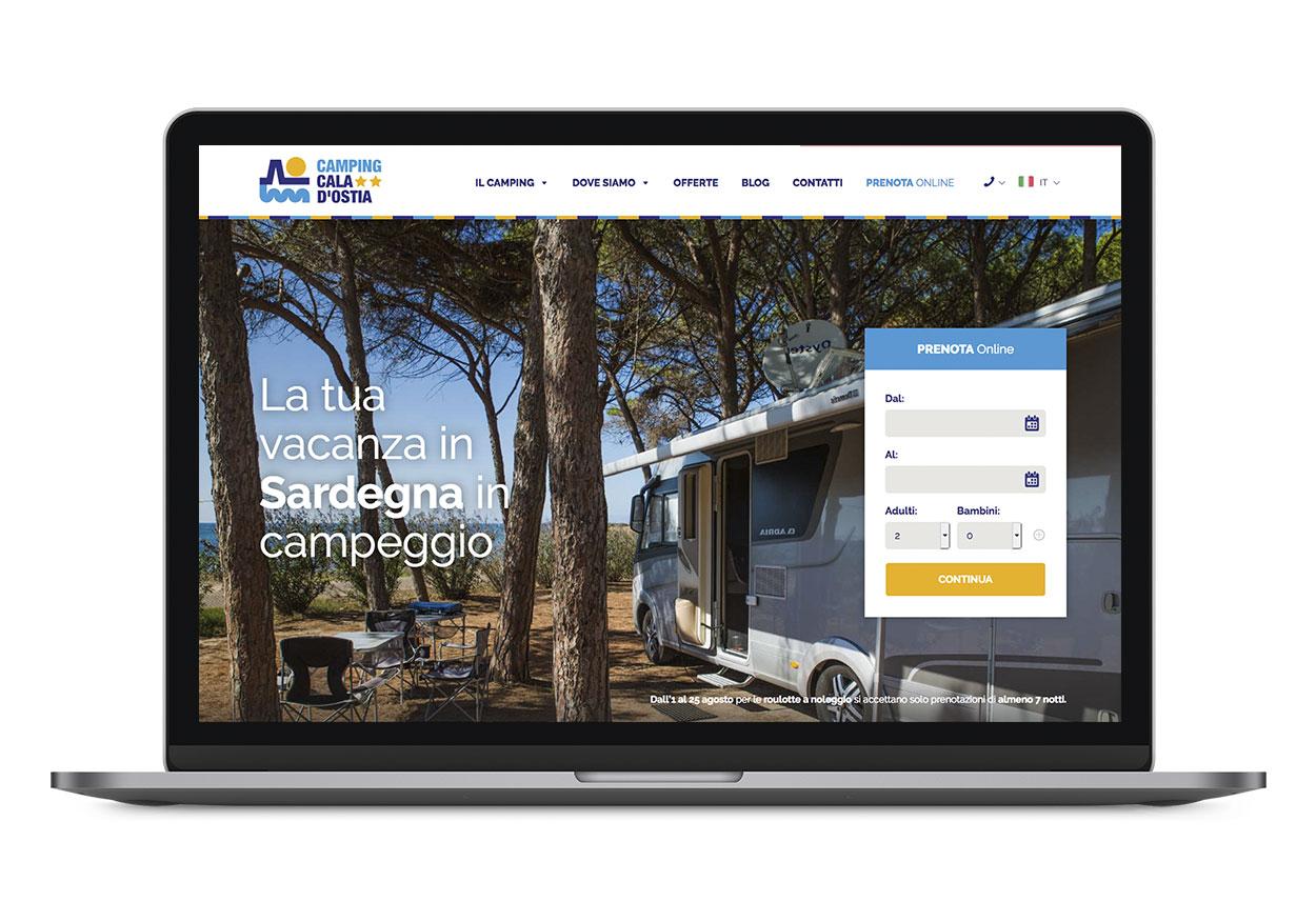 Diseño y desarrollo web Camping Cala d'Ostia