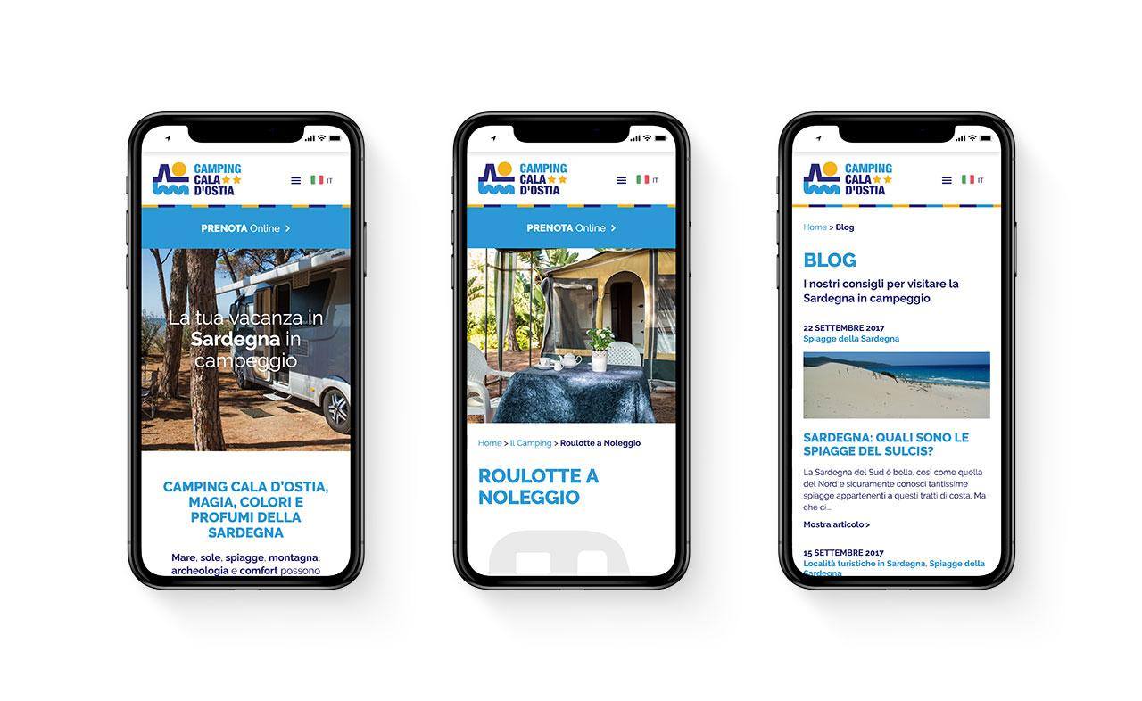 Diseño web responsive Camping Cala d'Ostia